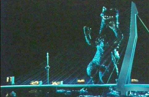 Knutsel-Godzilla in het Stadsarchief