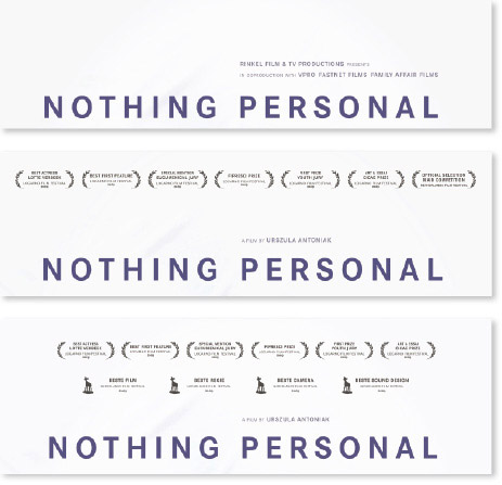 De poster illustreert het succesverhaal van Nothing Personal