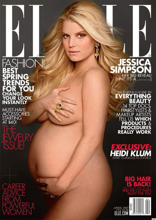 Jessica Simpson doet óók een Demi Mooretje…