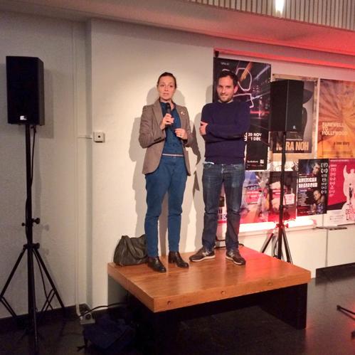 Barbara Visser en Joost Daamen bij de opening van Paradocs