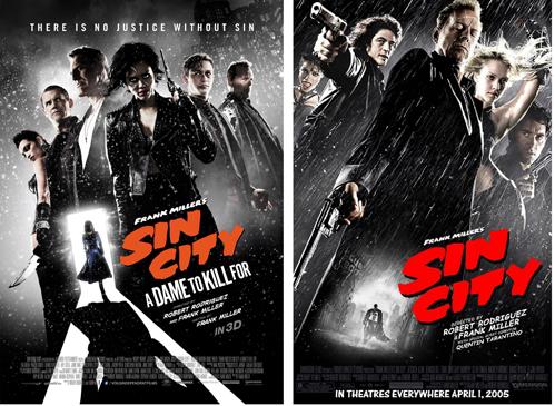 Zoek de 10 verschillen: Sin City