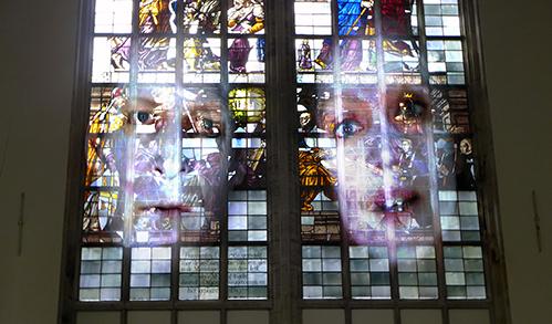 © Tony Oursler in the Oude Kerk 2014.jpg.1