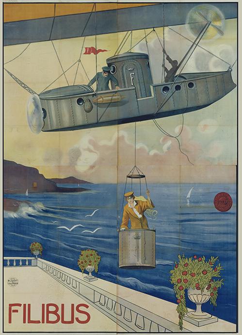 Filibus-Zeppelin boven terras_A03464_EYE Filmmuseum_Desmet Collection