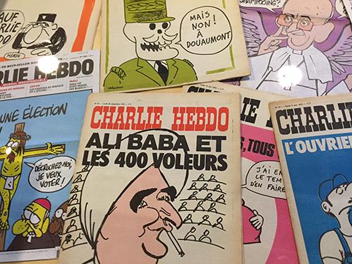 Persmuseum eert Charlie Hebdo met een mini-expositie