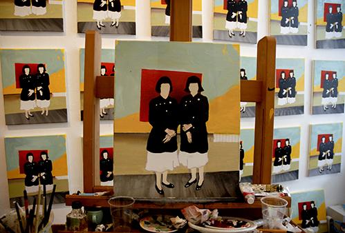 Het atelier van Aukje Dekker bij Vriend van Bavink