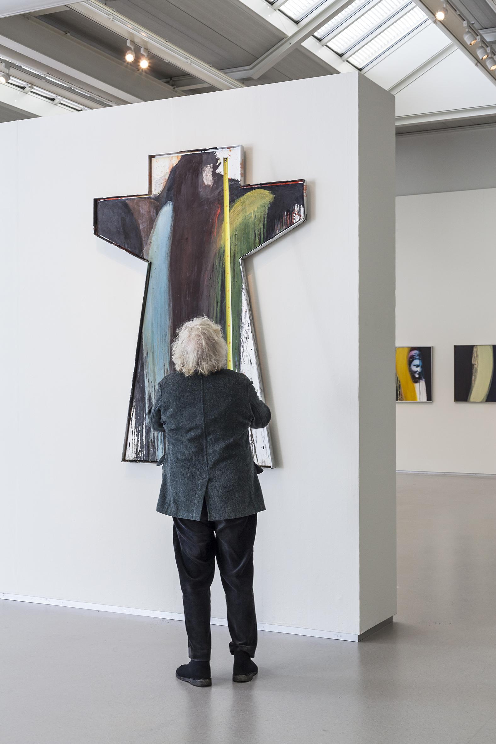 Übermaler Arnulf Rainer in het Cobra Museum in Amstelveen