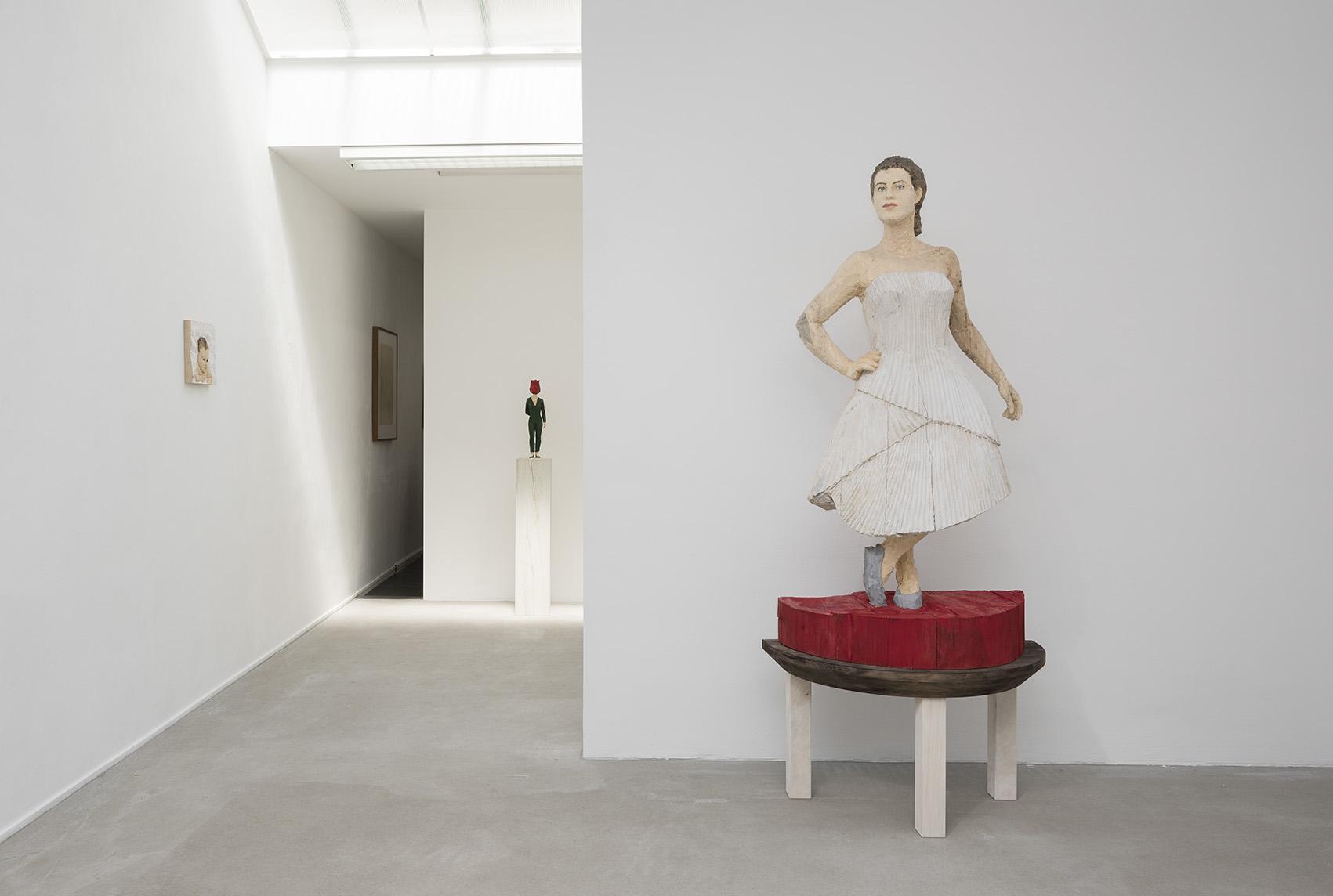 Stephan Balkenhol, installation view II,photo Peter Cox, AKINCI, 2015
