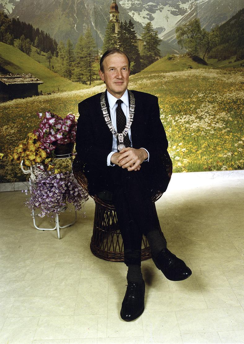 Foto- Voormalig burgemeester van Amsterdam, Schelto Patijn 26 april 1996 ©Lee To Sang Van Zoetendaal Collections